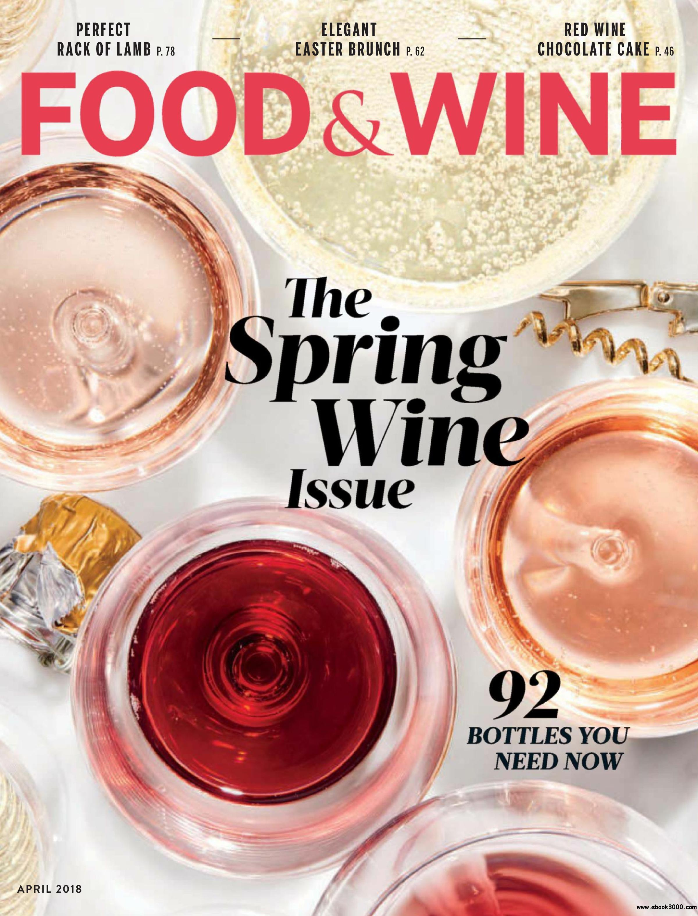 Food & Wine | Cover April 2018