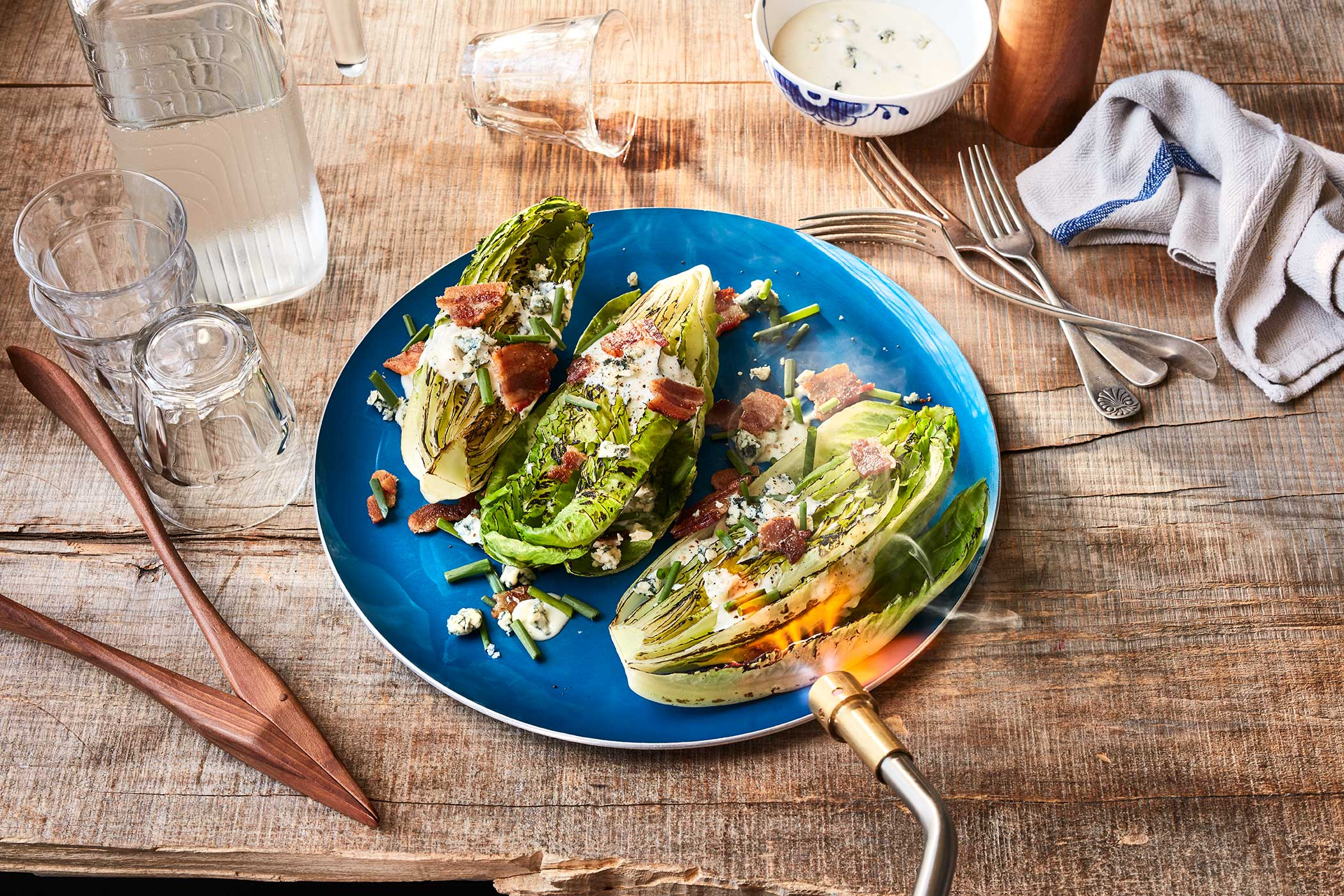 Charred Romaine Salad | BernzOmatic
