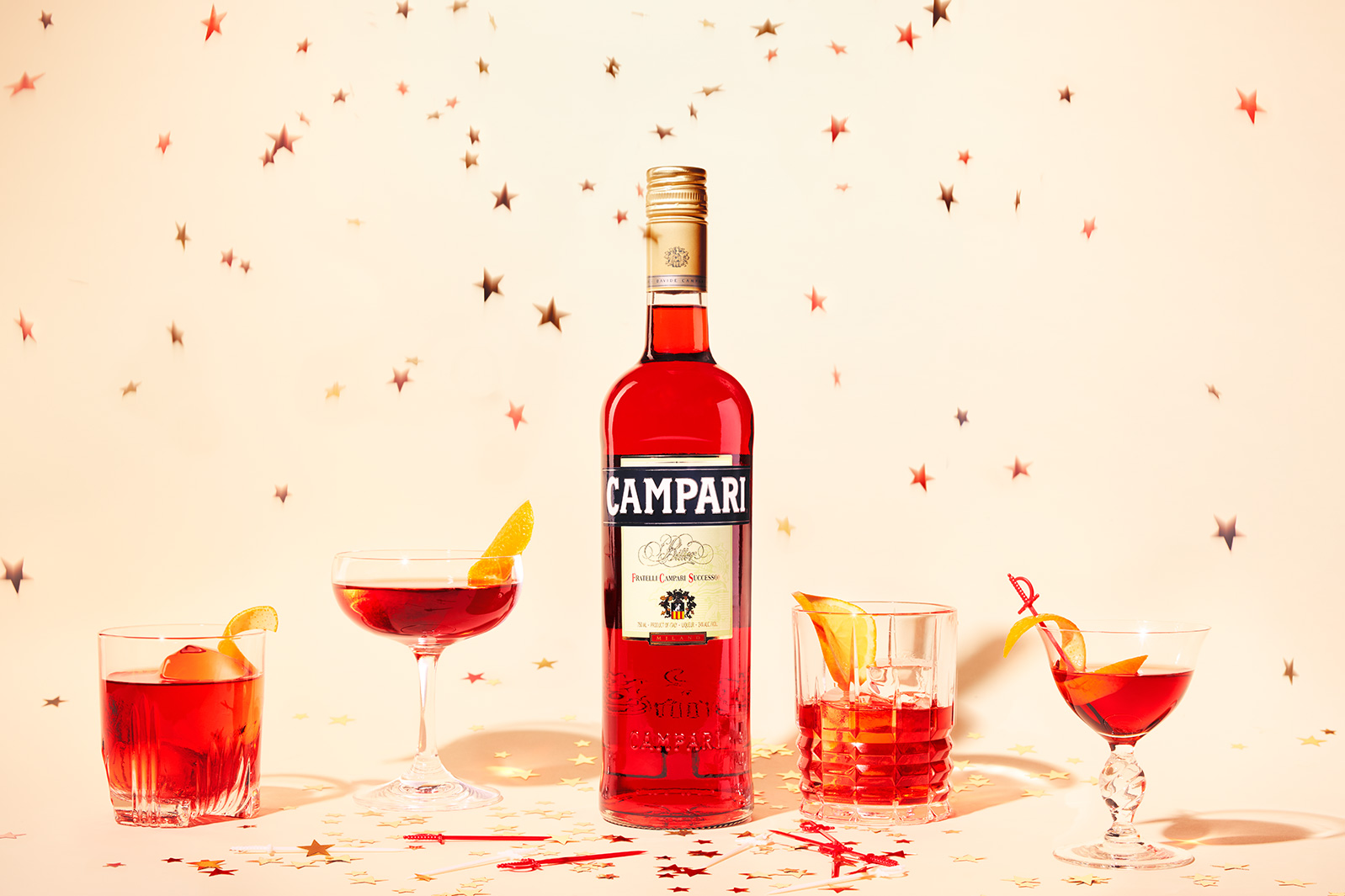 CampariBottleCocktailStars