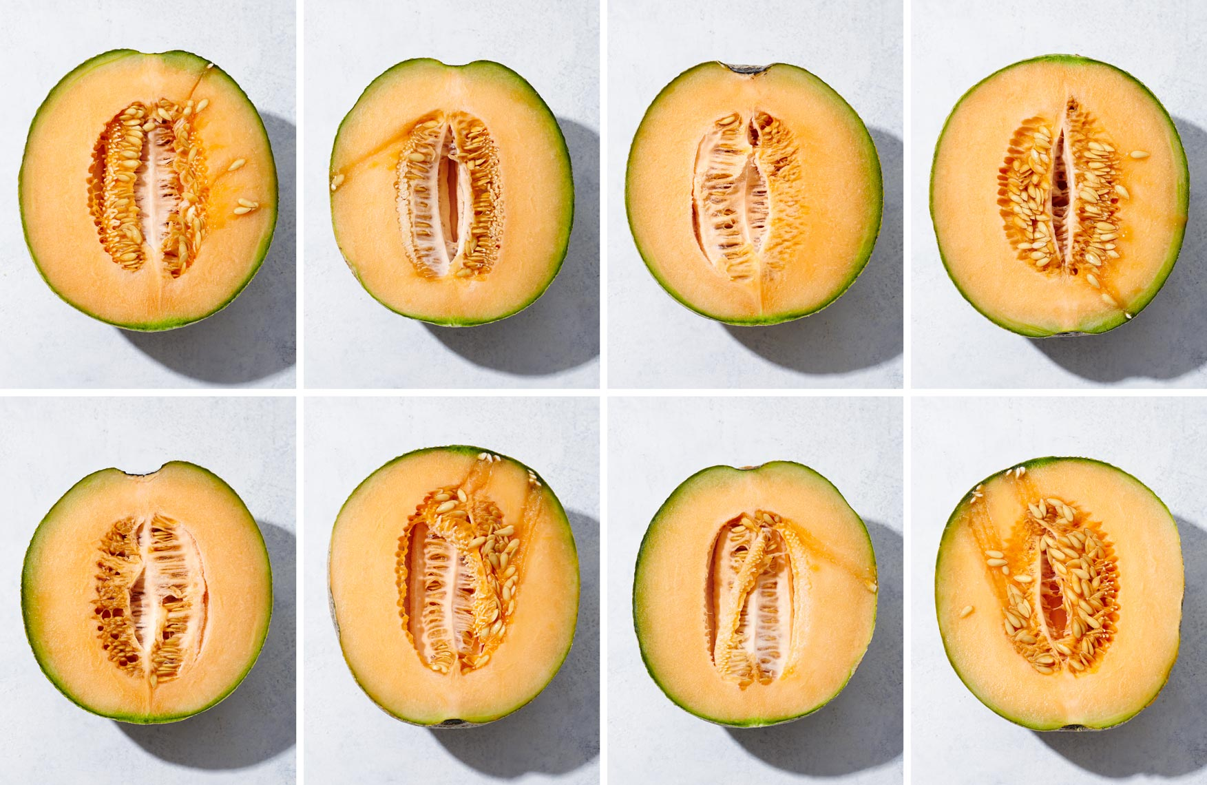 Cantaloupe Halves| Each Is Unique