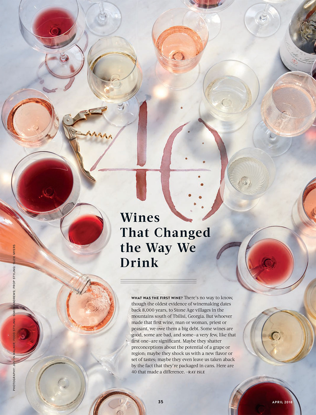 Food & Wine | April 2018 Feature