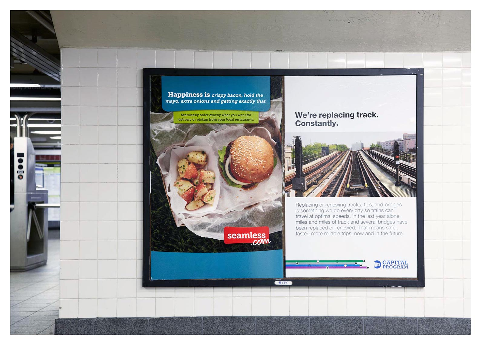 Seamless | New York City Subway Ad
